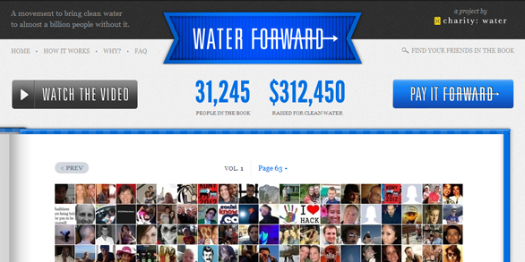 A Networked Fundraiser: charity:water Waterforward