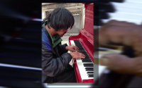 14-11-03 Homeless man and a piano